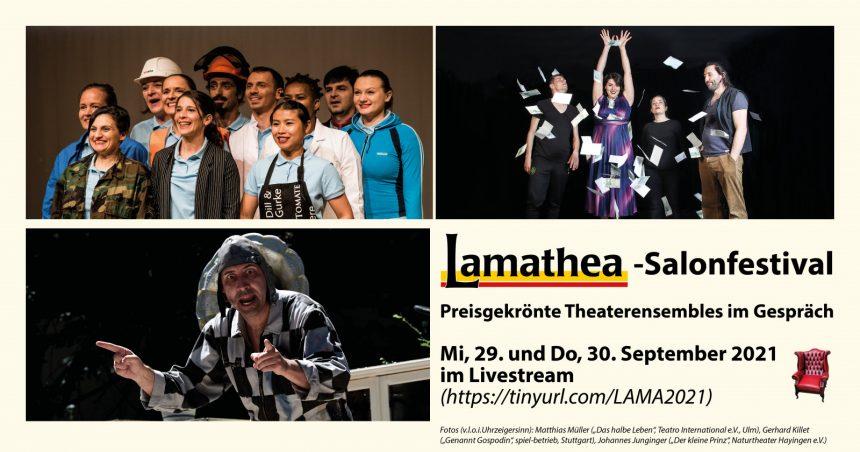 Flyer LAMATHEA-Salonfestival mit Fotos